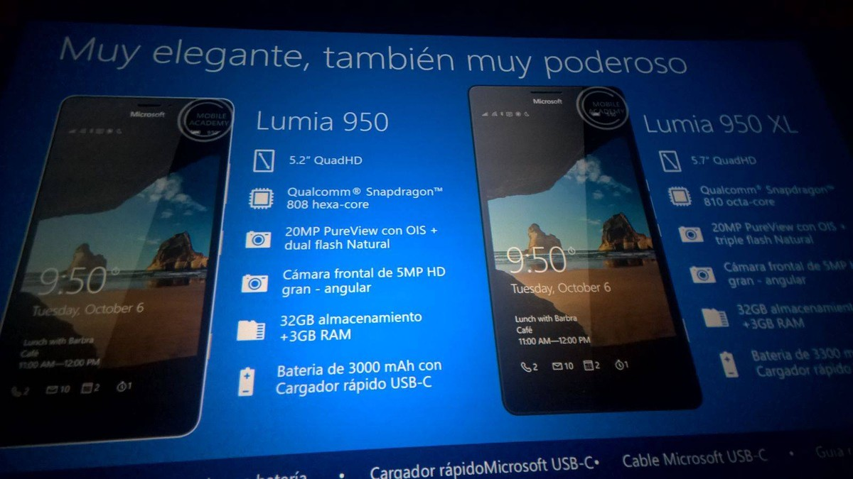 Lumia 950 XL and Lumia 950